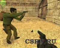 Модель оружия Glock + 19 camo + sleeve