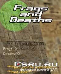 Плагин показывает фраги и сперти под радаром - Frags & Deaths