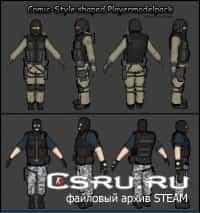 Рисованные скины игроков Comic-Style Shaped Playermodels для css